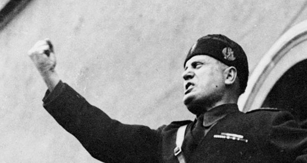 Mussolini more a man of the left than of the right