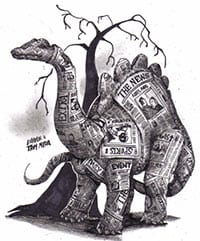 Newspapers are dinosaurs