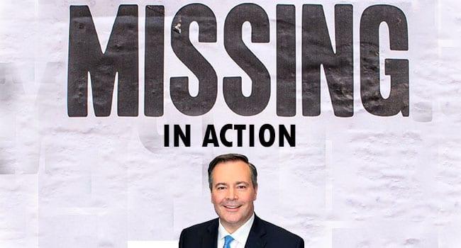Political leadership in Alberta missing in action