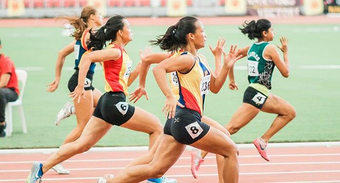 olympics runner sprinting sports track field food